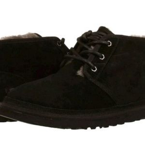 Shoes - Pair Of Black Suede Work Boots